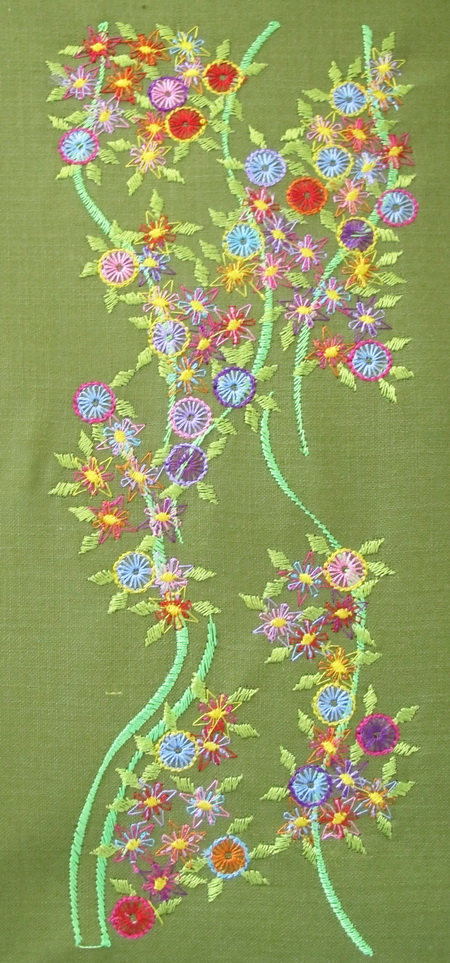 Bold and Beautiful Machine Embroidery Instructions