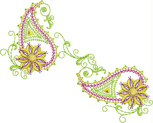 Paisley Machine Embroidery Designs