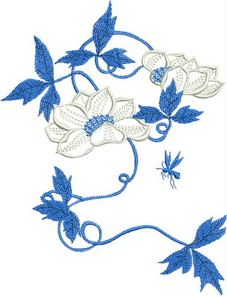 Summer Time Blues Machine Embroidery Designs