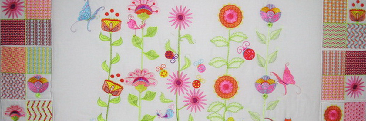 Wall Flowers Machine Embroidery Designs by Stitchingart