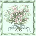Fancy Flowers Machine Embroidery Design Instructions