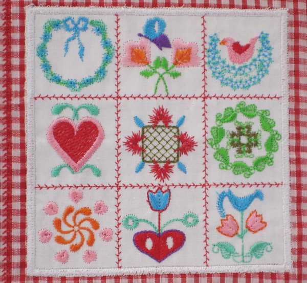 Miniature Baltimore Quilts Machine Embroidery Designs