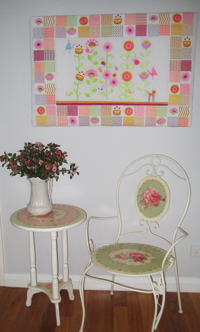 Wall Flowers Machine Embroidery Designs by Stitchingart. Wall Hanging