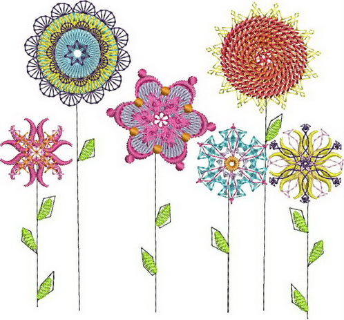 Bold and Beautiful Machine Embroidery Designs