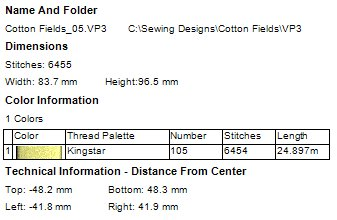 Cotton Fields Machine Embroidery Designs