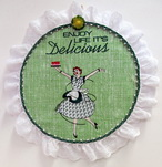 Delicious Machine Embroidery Design Instructions