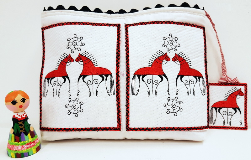 Folklore Machine Embroidery Designs by Stitchingart. Folklore purse, horses, folk, artistic machine embroidery designs, fun