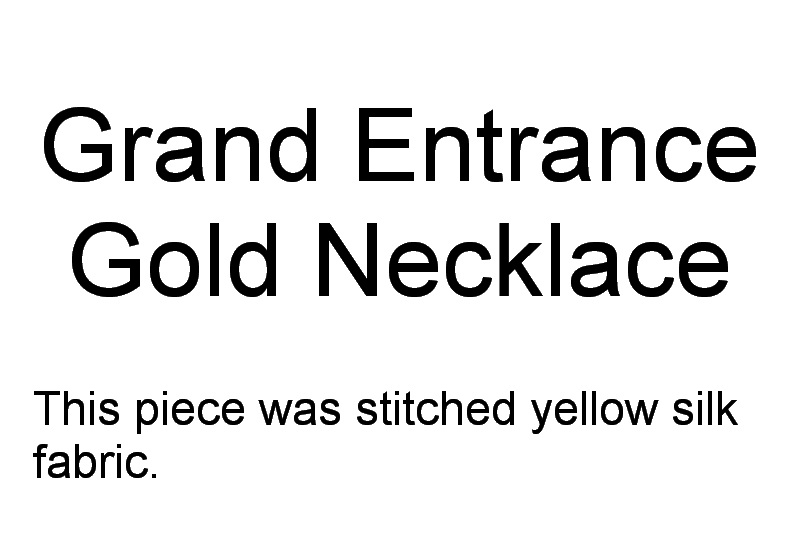 Grand Entrance Machine Embroidery Designs. Gold Modern embroidered necklace by Stitchingart.