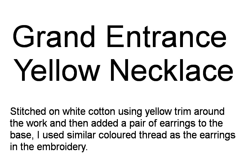 Grand Entrance Machine Embroidery Designs. Orange yellow embroiderred necklace by Stitchingart.