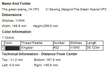 Green Scene Machine Embroidery Designs