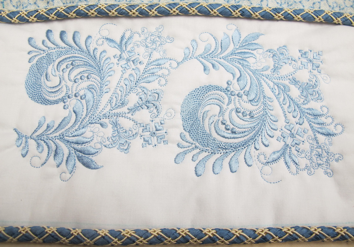It's Nice Machine Embroidery Designs by Stitchingart. Artistic flower Pattern Cushion