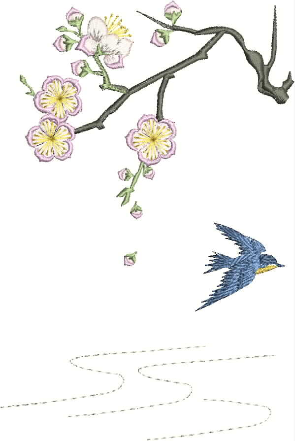 Kyoto Garden Machine Embroidery Designs