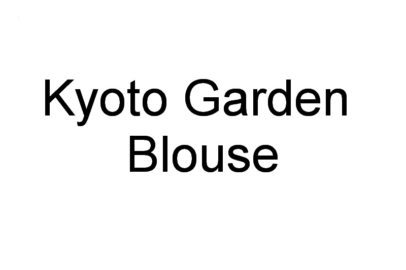 Kyoto Garden Machine Embroidery Designs. by Stitchingart. Blouse with birds and Blossom Flowers. Japanese Kyoto Style.