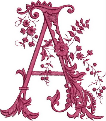 Monograms Machine Embroidery Designs. Letter A