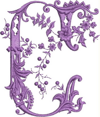 Monograms Machine Embroidery Designs. Letter C