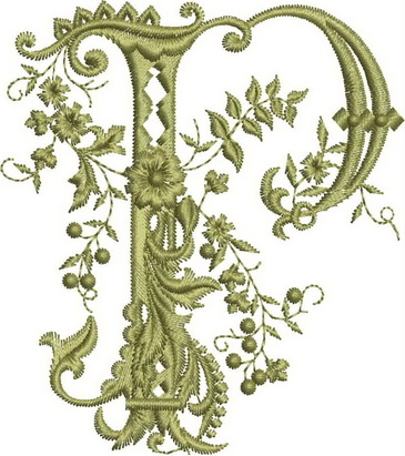 Monograms Machine Embroidery Designs. Letter O