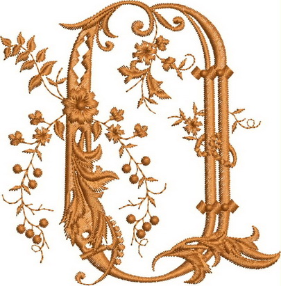 Monograms Machine Embroidery Designs. Letter P