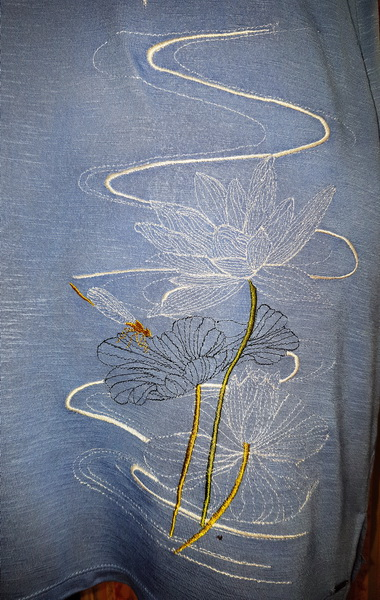 Morning Celebration Machine Embroidery Designs Designs by Stitchingart. Lotus flower, dragonfly machine embroidery design.