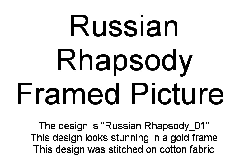 Russian Rhapsody Machine Embroidery Designs