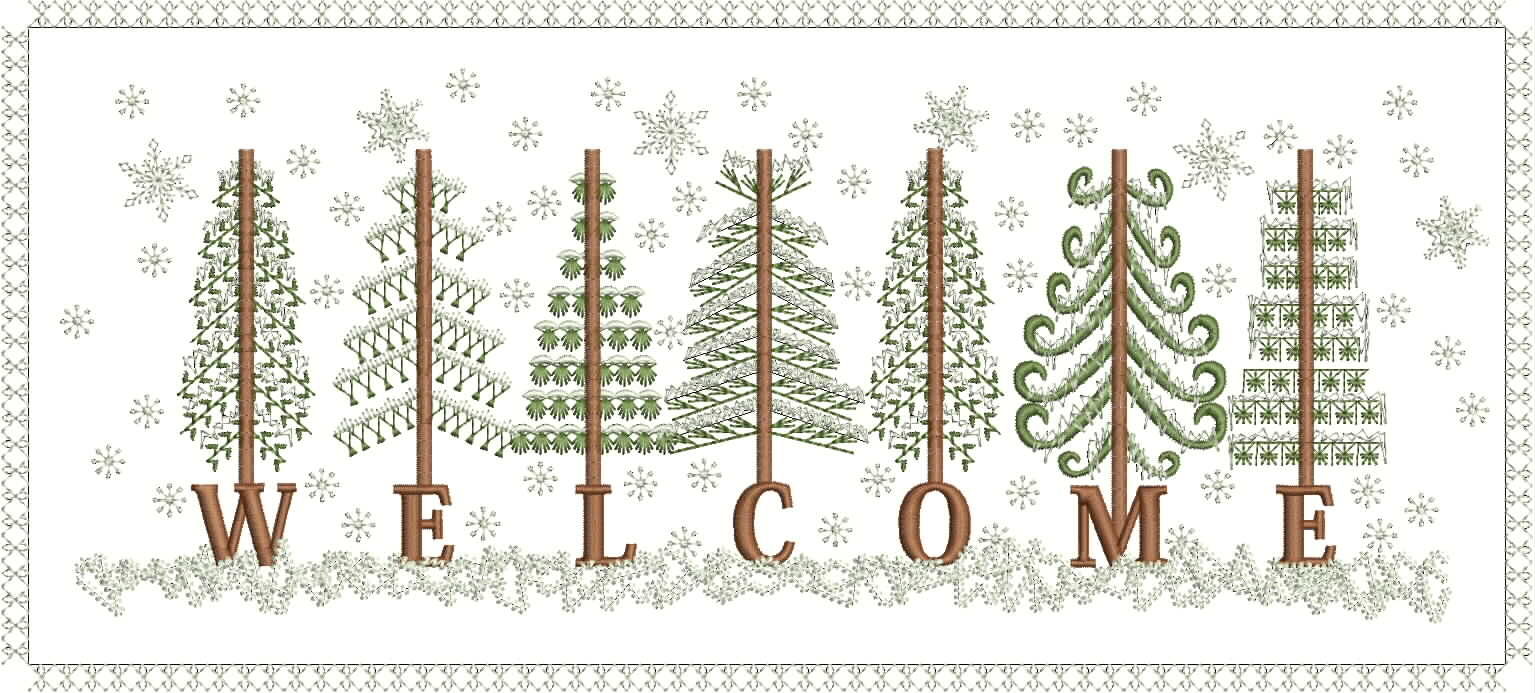Welcome Machine Embroidery Designs