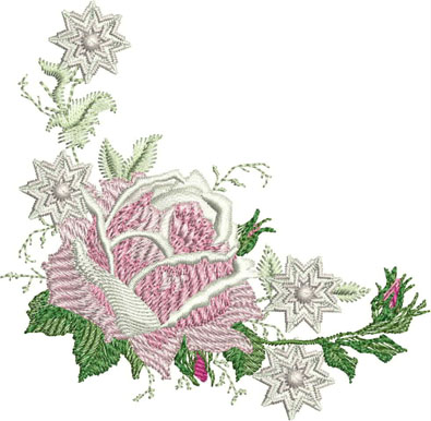 Free Rose Machine Embroidery Design