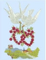 Love Birds Machine Embroidery Design Instructions