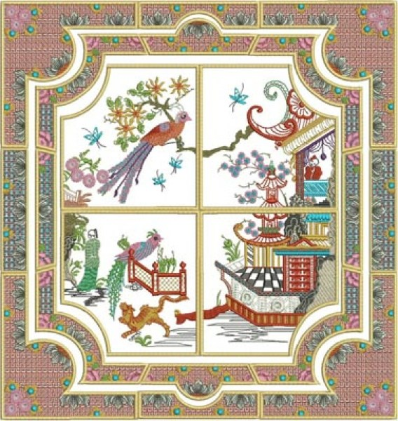 Stitchingart - Machine Embroidery Designs by Cathy Park - Shop online for Oriental Machine Embroidery Design Sets