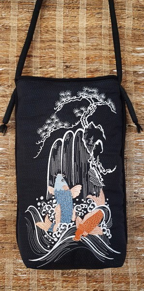 Spring of Life Machine Embroidery Designs by Stitchingart. Oriental designs with Koi fish, waterfall and blossom tree