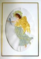 Blue Bird Angel Machine Embroidery Designs