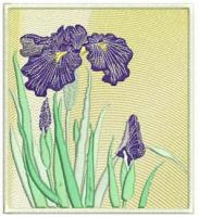 Iris Machine Embroidery Designs